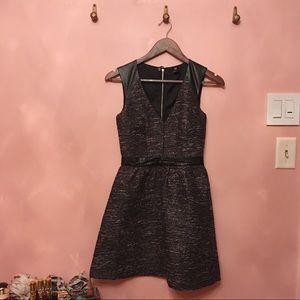 H&M Black Leather Detail Dress